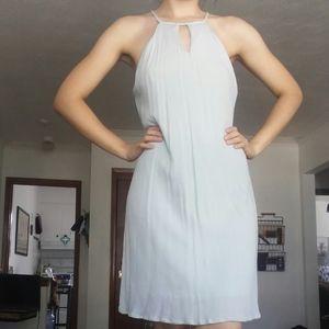 Crepe Textured Mint/Pale Green Halter Dress